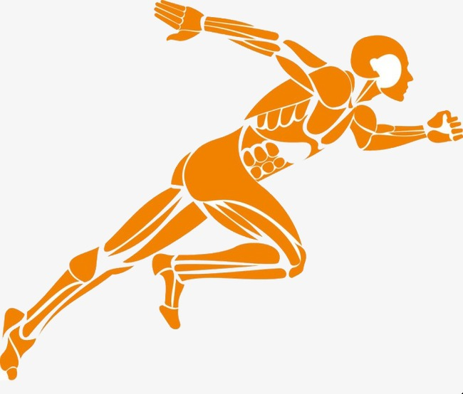 Movement clipart people. Running muscular png image
