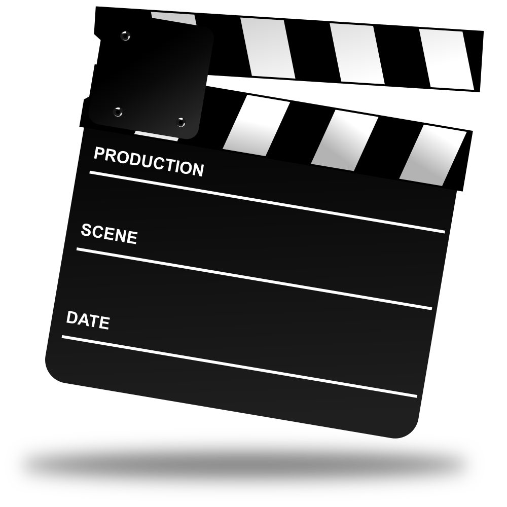Movie clapper png. Onlinelabels clip art board