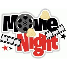 Movie clipart. Instant download digital clip