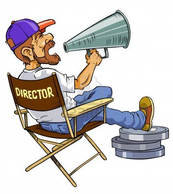 Movie clipart director's cut. Director panda free images