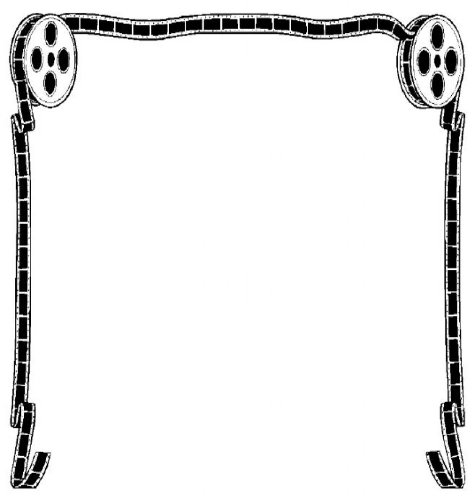 Movie clipart frame. Picture reel clipartix with