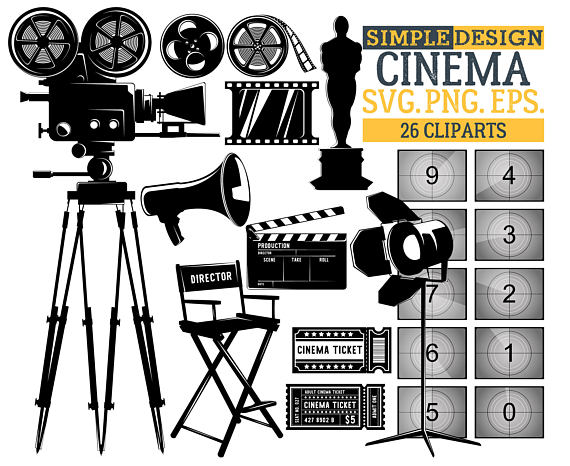 Movie clipart movie item. Cinema film countdown graphics