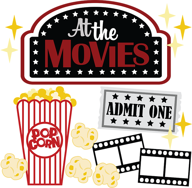 Movie clipart svg. At the movies scrapbook