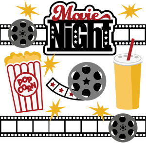 Movie clipart svg. Night collection files for