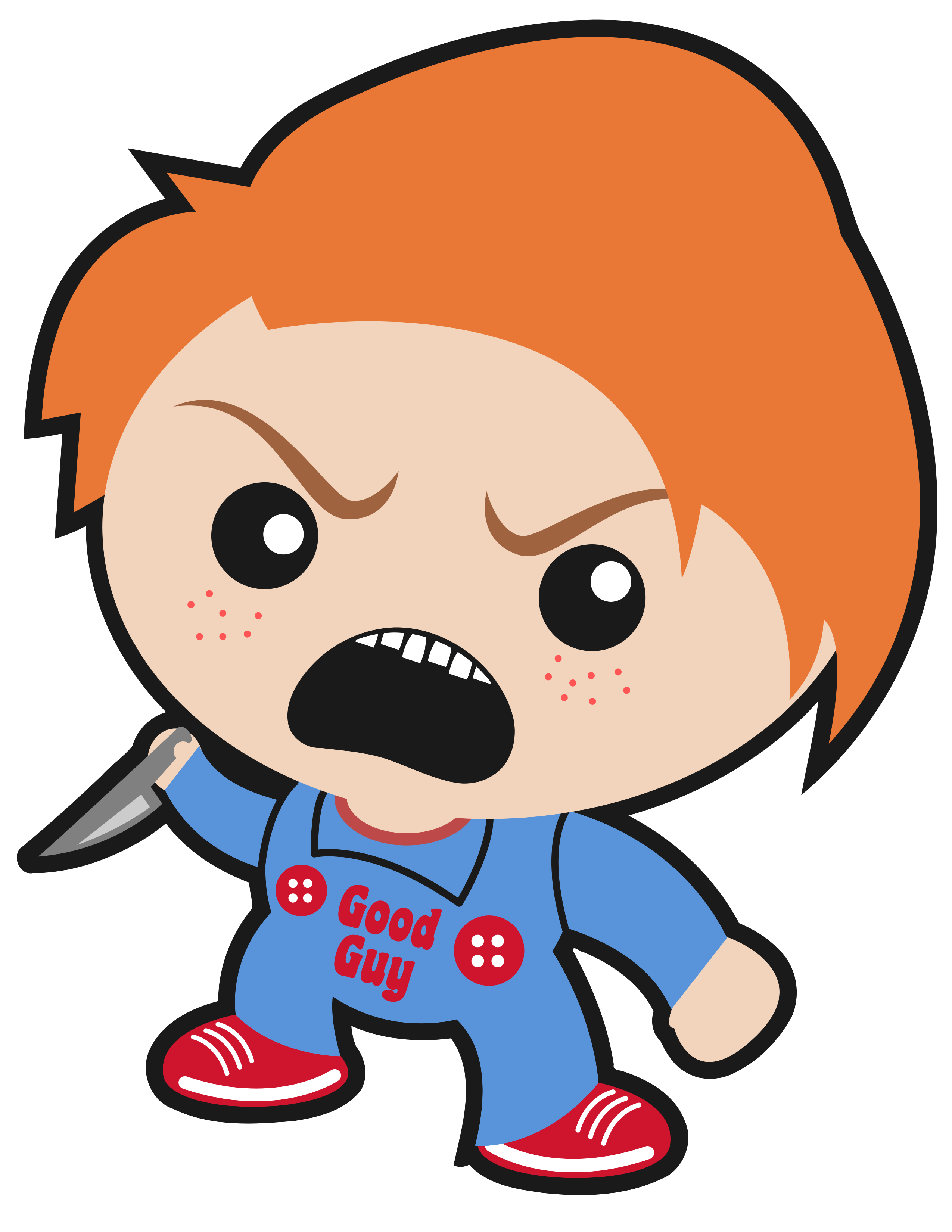 Movie clipart treat. Halloween chucky dracula freddy