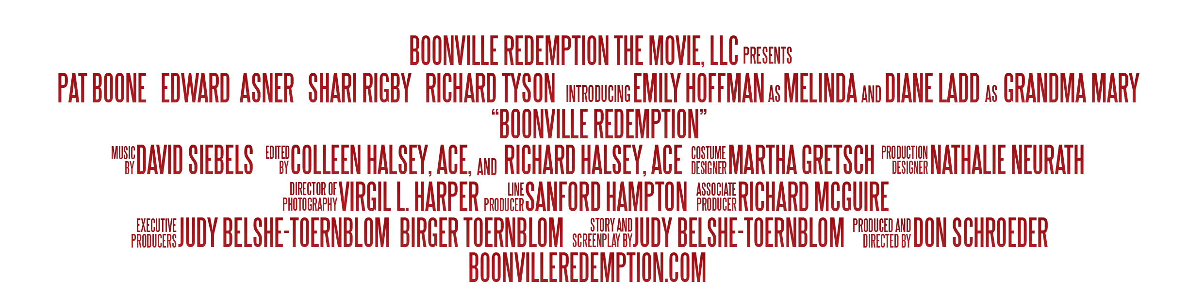 Movie credit png. Boonville redemption a story