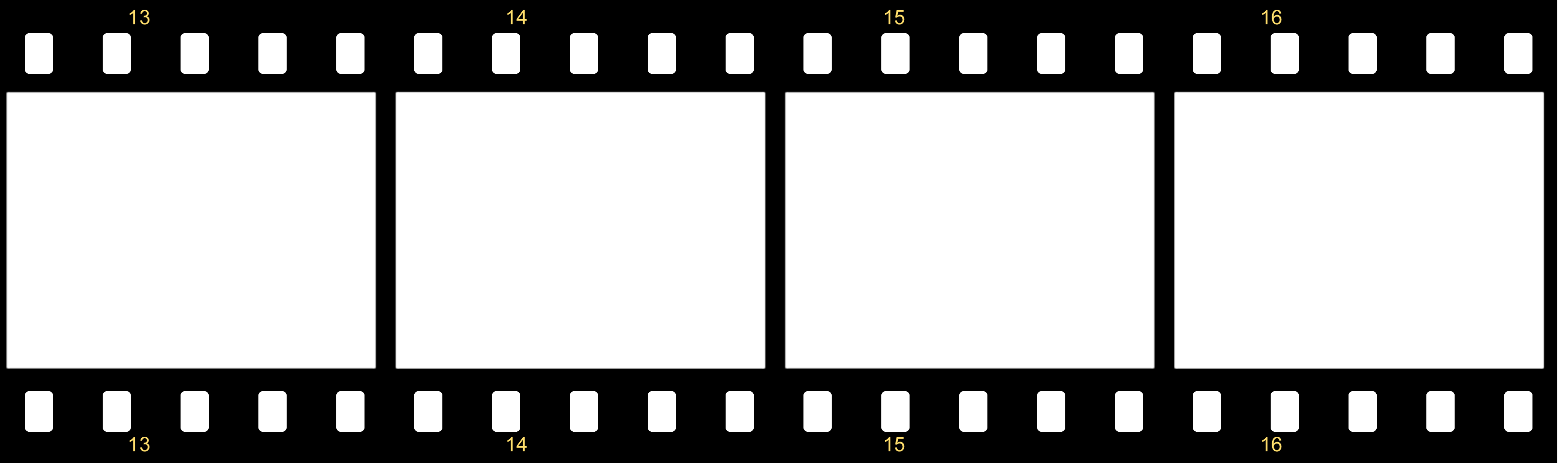 Movie effect border png. Film photo template fast