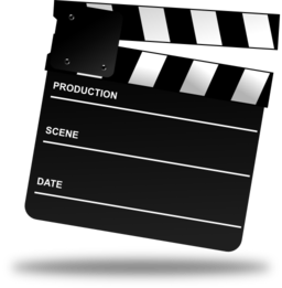 Movie marker png. Clapper board clipart i