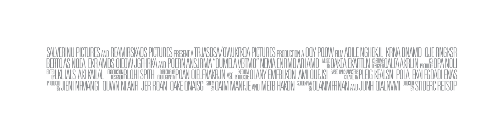 Movie poster credits template png. Lines greek billing