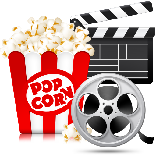 Movie reel and popcorn png. Movies folder icon by