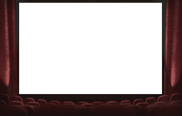 Stage transparent photo frame. Movie theatre png pictures