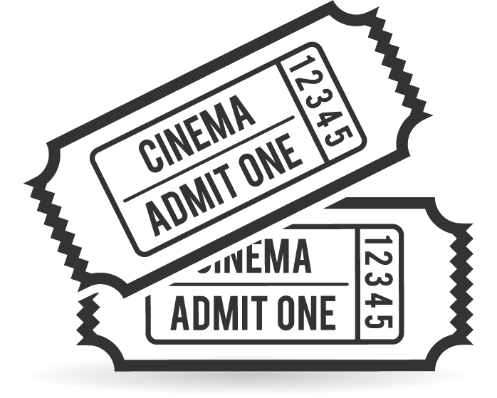 Movie ticket clipart png. Collection of black