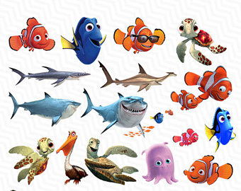 Nemo clipart file. Finding etsy png dory