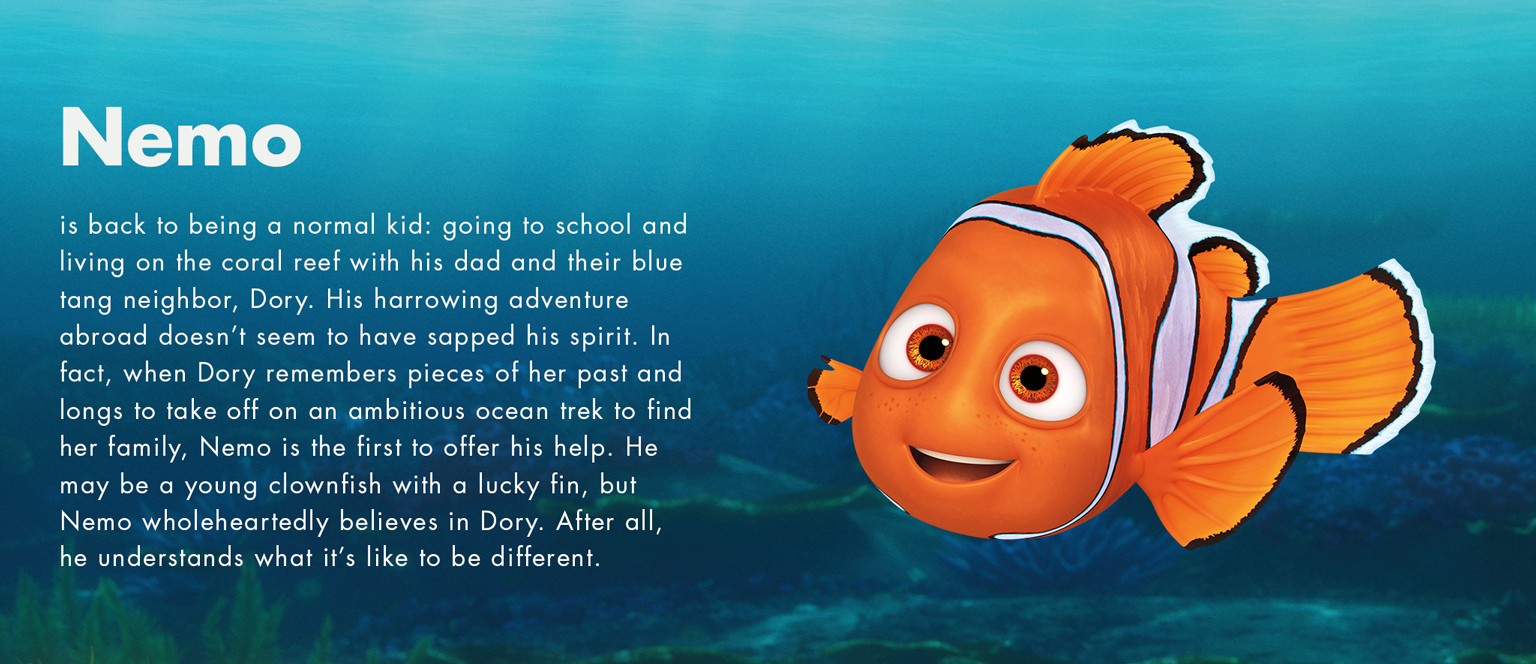 Movies clipart finding dory. Disney nemo character
