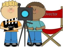Movies clipart kid. Movie director clip art