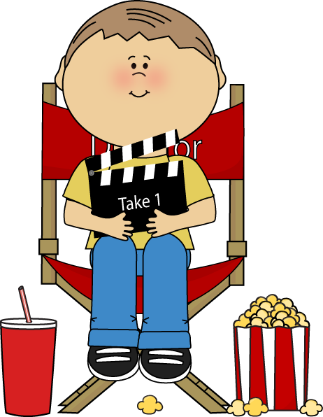 Movies clipart movie director. Clip art images kids