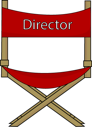 Movies clipart movie director. Panda free images chairclipart