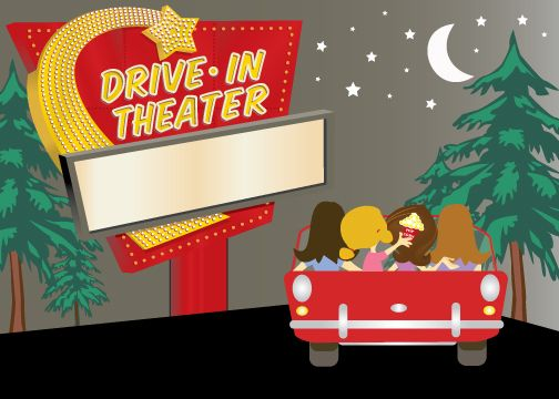 Movies clipart movie drive in. Best nd birthday