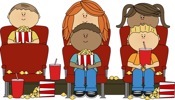 Movies clipart movie house. Kids watching a in
