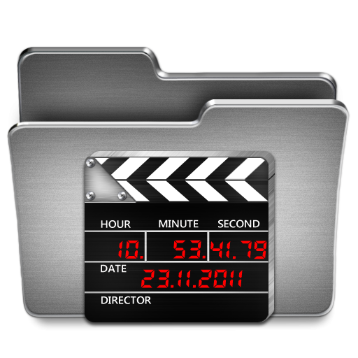 Movies folder png. Steel icon clipart image