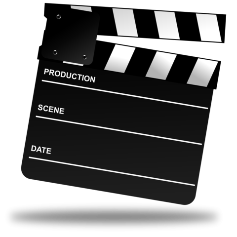 Movies vector film making. Free movie clapper board