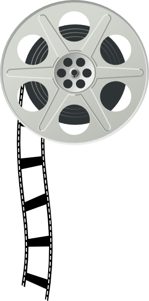 Movies vector film reel. Collection of free fil