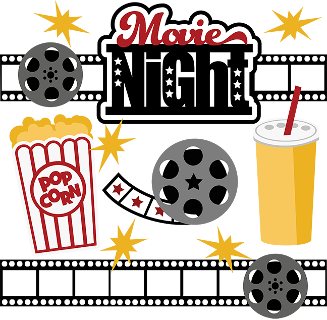 Movies vector movie night. Svg collection files for