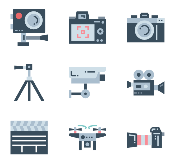 Movies vector psd. Cinema icon packs