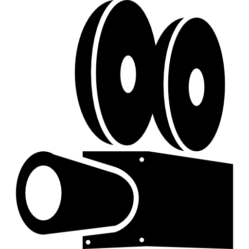 Vector buildings cinema. Video player icons free