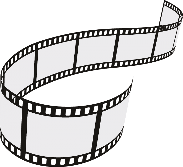 Filmstrip vector cinema. Film strip roll set
