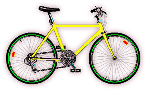 Moving clipart bicycle. Free gifs animated modern