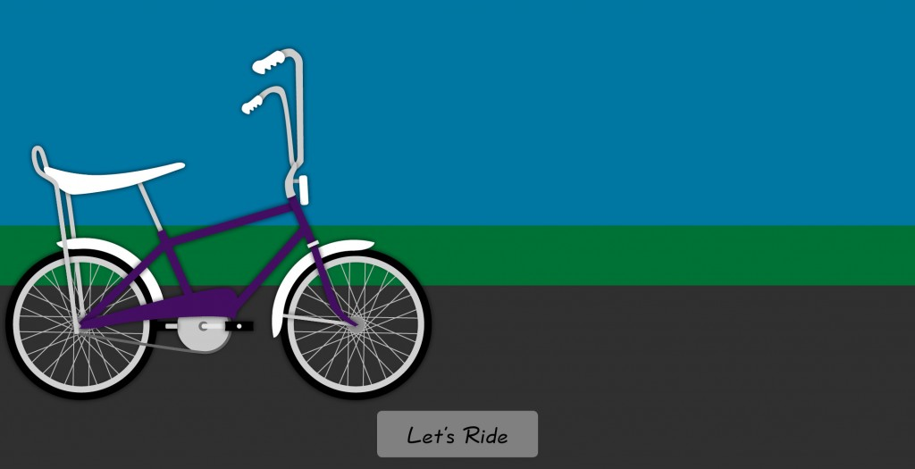 Moving clipart bicycle. Cute thank you animation