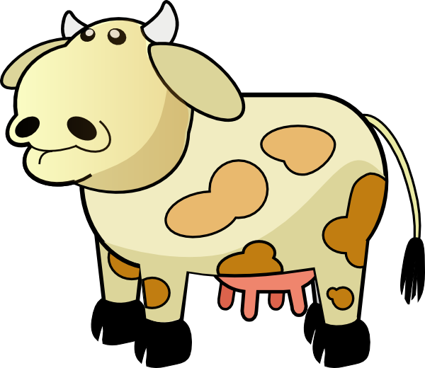 Moving clipart cow. Color clip art at