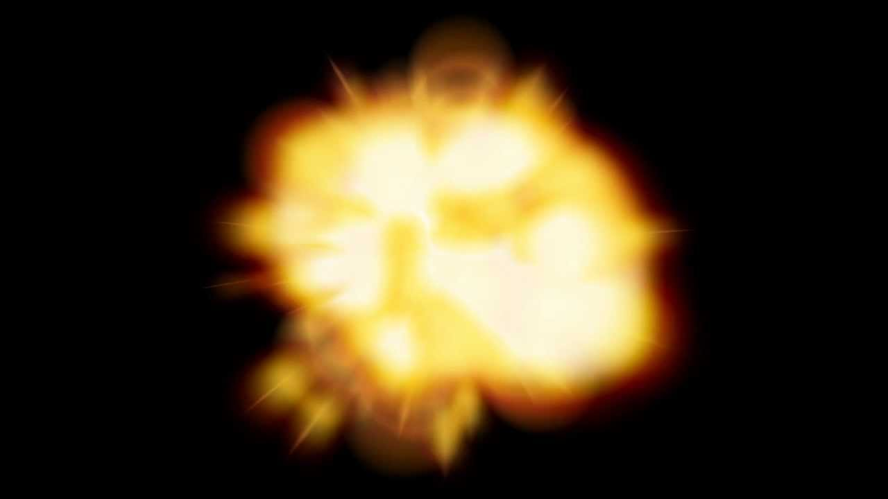 Moving clipart explosion. After effects animated youtube