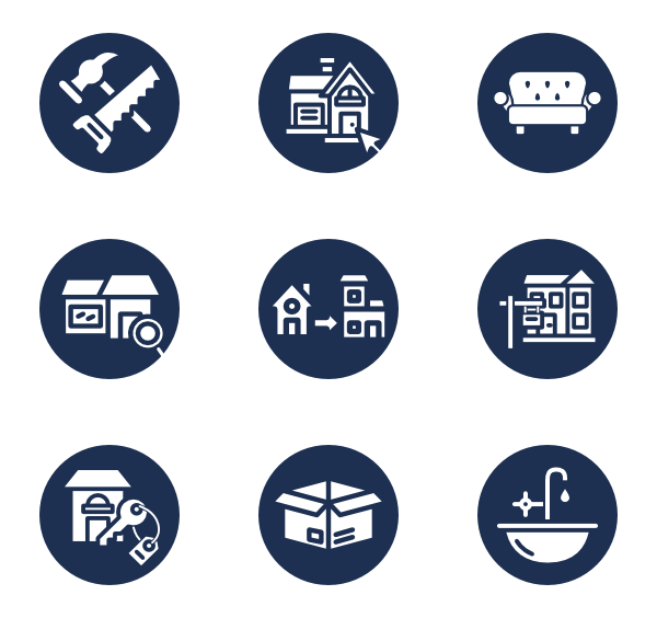 Moving vector truck. Icons free