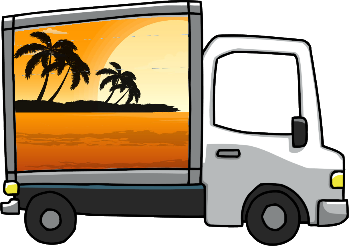 Vector van removal. Free moving images download