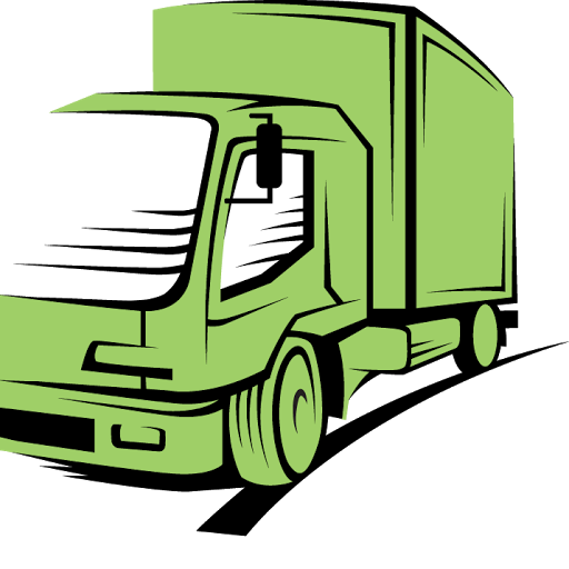 Moving vector truck. Free picture of a