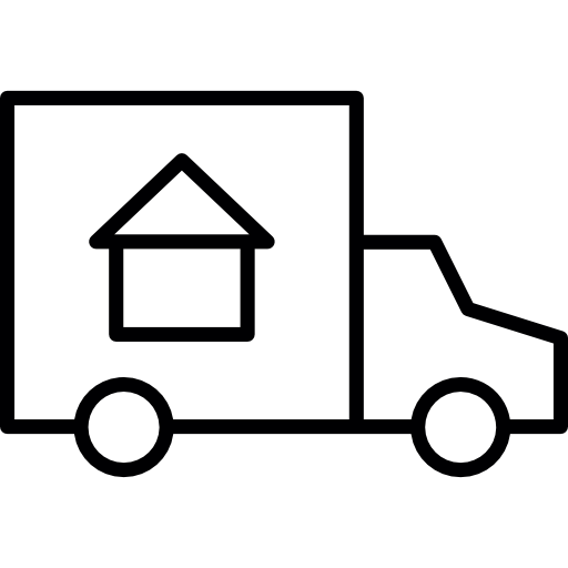 Moving vector truck. Move free transport icons