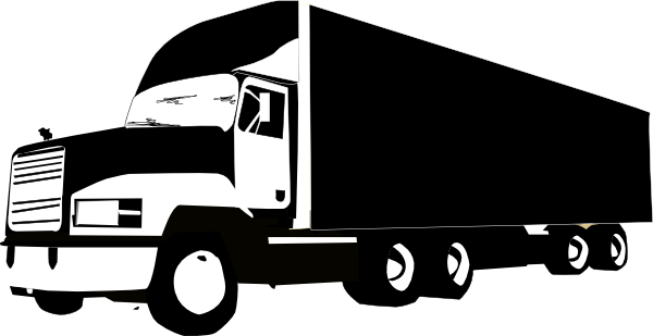 Semi svg silhouette. Moving truck at getdrawings