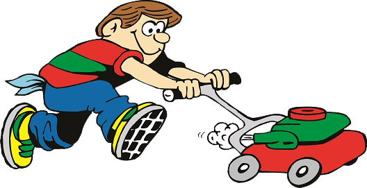 Mowing clipart cartoonlawn. Serving people collection cartoon