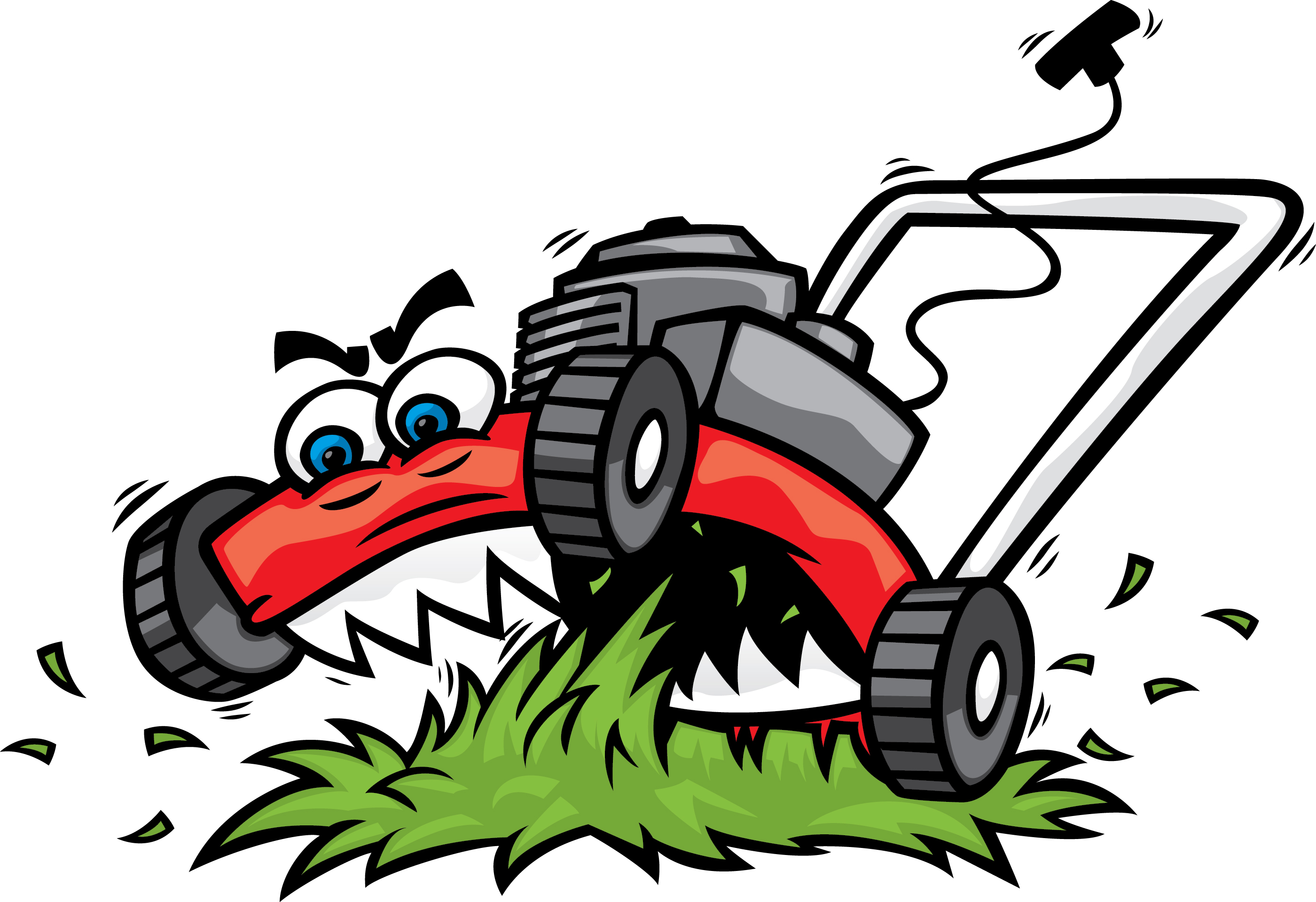 Mowing clipart lawn equipment. Care free download best