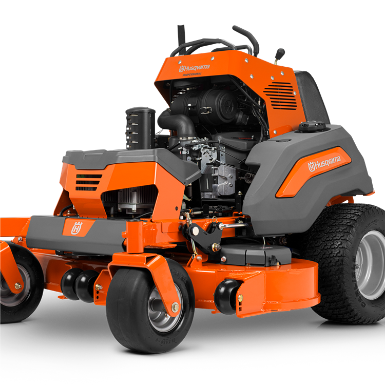 Mowing clipart tractor driver. Husqvarna professional stand on