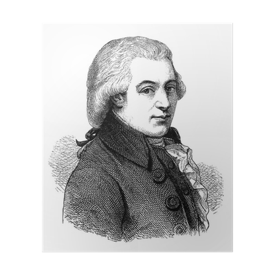 Mozart drawing portrait. Composer wolfgang amadeus th