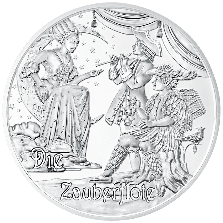 Mozart drawing death. The legend euro silver