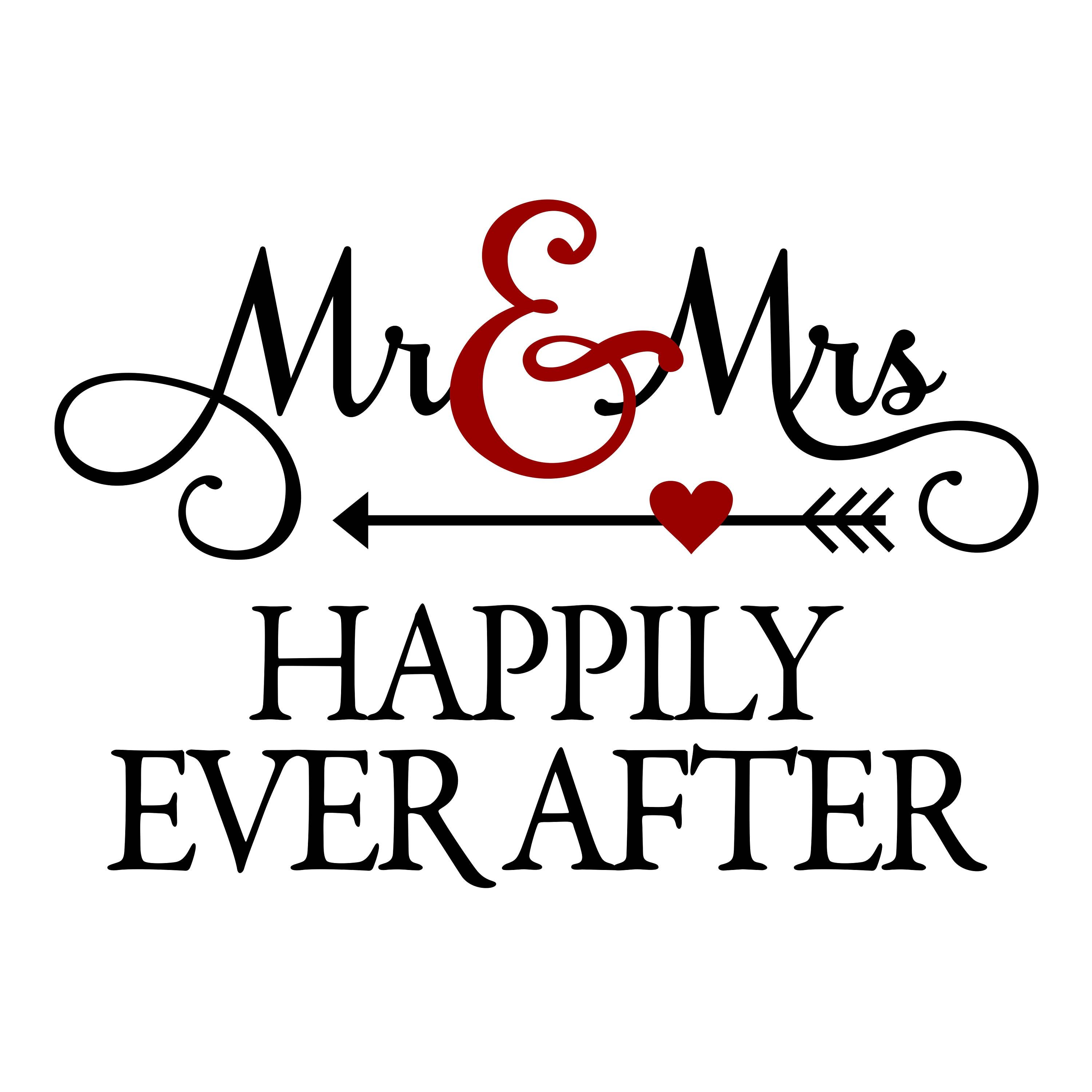 Mr clipart. Mrs happily ever after