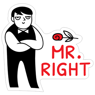 Mr clipart mr right. Png