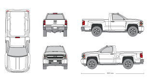 Silverado drawing realistic. Mr clipart file id