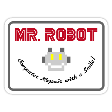 Mr robot logo png. Stickers and t shirts