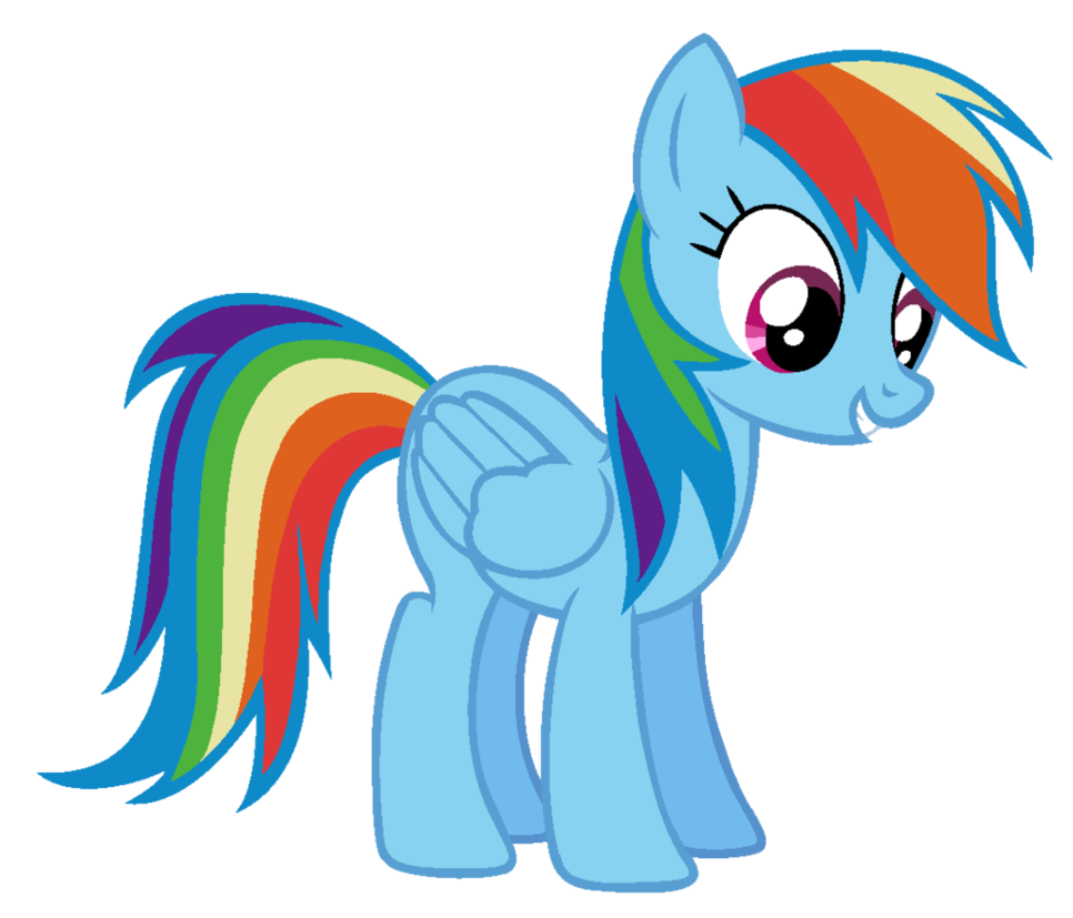 Ms paint png. Rainbow dash friendly by