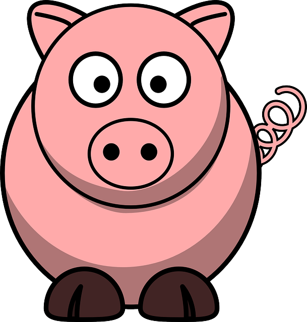 Mud clipart farm pig. Free photo curly tail